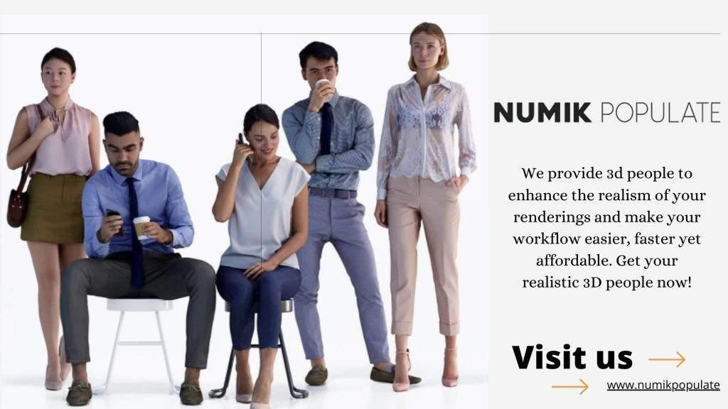 Photo-Realistic 3D People Models for Archviz  | Numik Populate